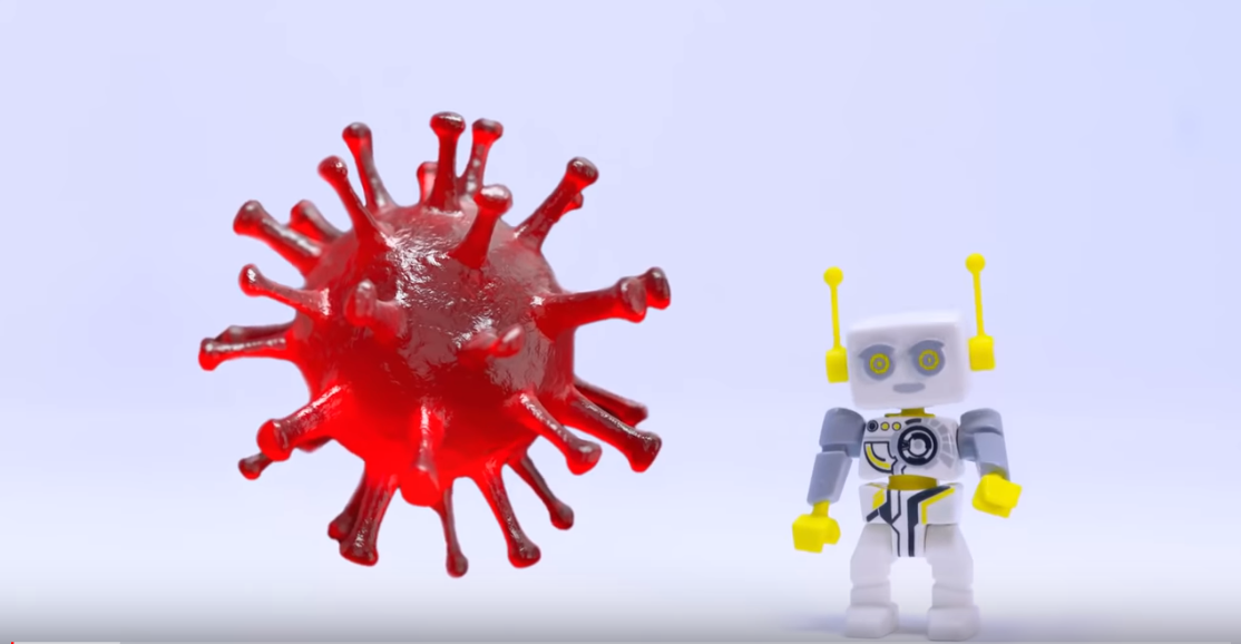 Playmobil coronavirus video screenshot