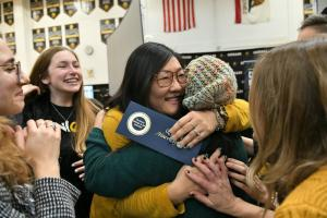 1000w 2019 Capistrano Candice Harrington student hugs 2