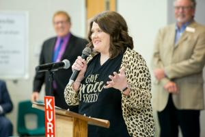 Kara Davis addresses assembly 1000w