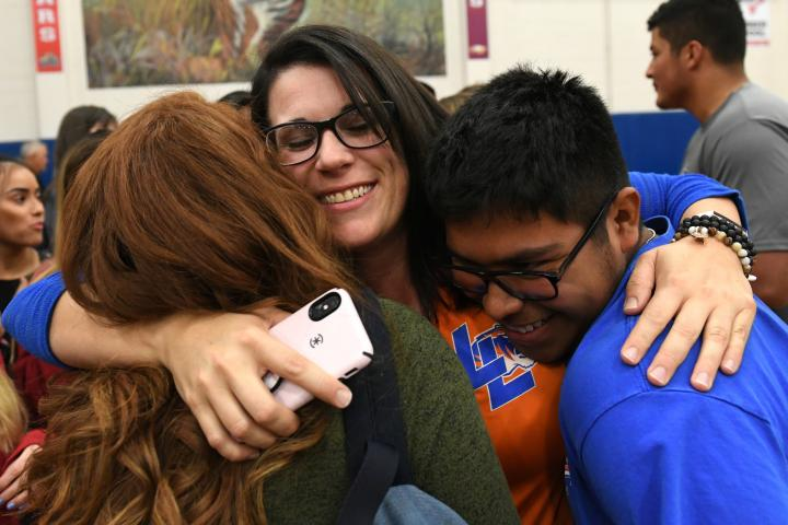 2019 NM Lacy Rivera student hug
