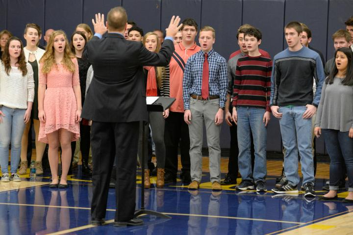 Haslett HS choir national anthem