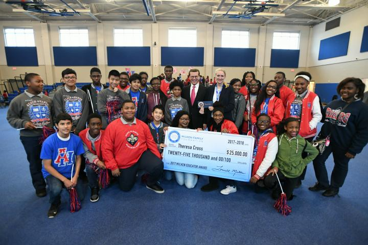 New Orleans 2017 Lowell Milken Theresa Cross students check