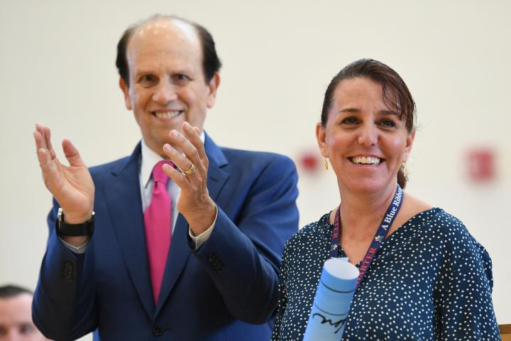 Newark Charter 2017 Tami Lunsford Mike Milken long ovation