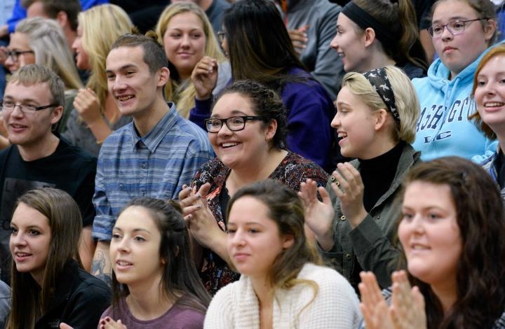 Students watch Gina Benz Milken Award