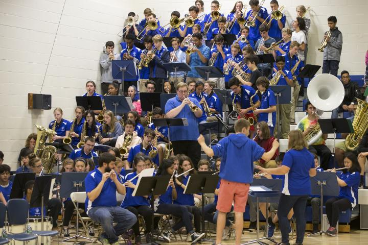 West Hartford 2017 Hall High band