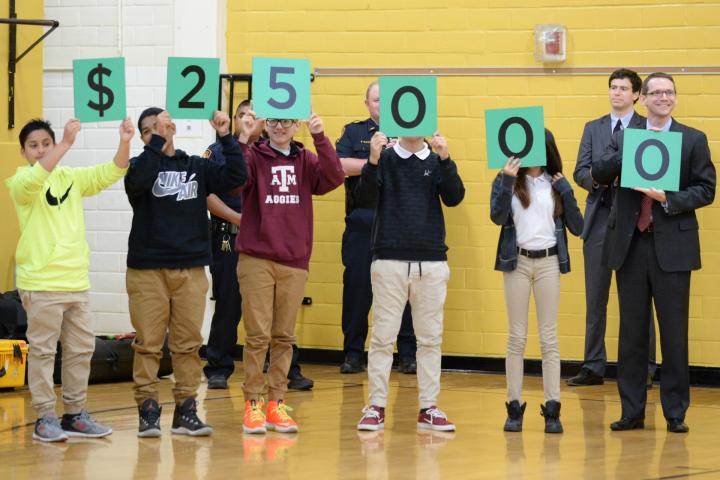 Whittier Middle students spell 25000
