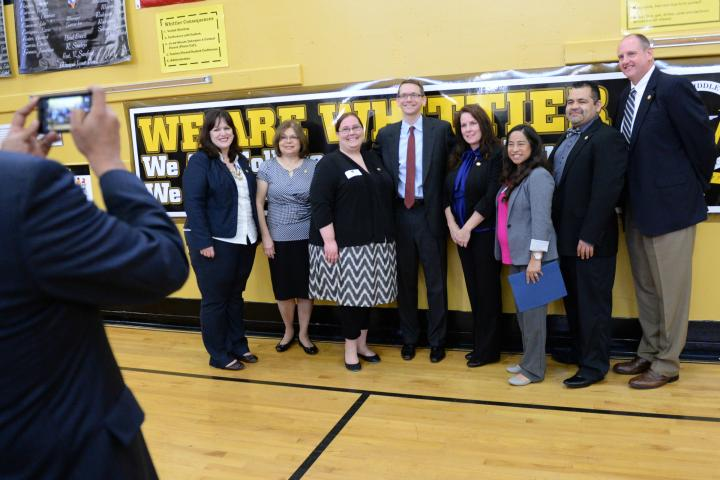 Whittier Middle vets with Mike Morath