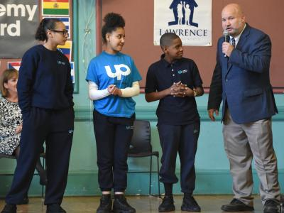 Lawrence 2017 superintendent introduces star students UP Academy Leonard
