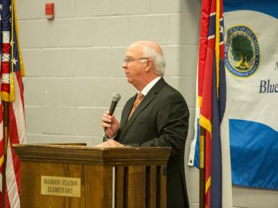 Madison County Superintendent Ronnie McGehee