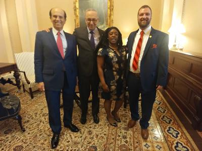 2018 CR Mike Milken Andrew Franz Aja Brown Chuck Schumer