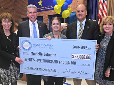2018 Providence Michelle Johnson check dignitaries