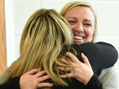 2018 Roanoke Caroline Eschenbach colleague hug