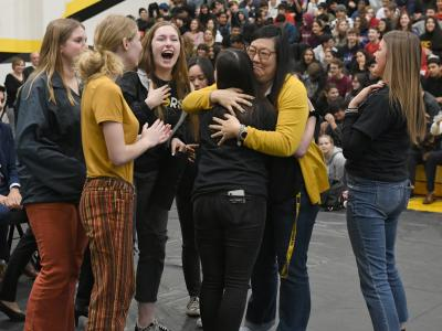 2019 Capistrano Candice Harrington student hugs