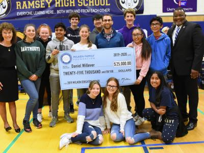 2019 NJ Daniel Willever students check