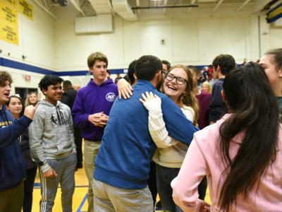 2019 NJ Daniel Willever students hug
