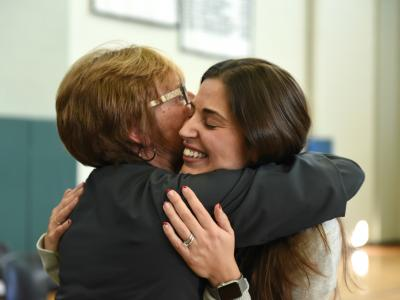 2019 RI Jennifer Paolantonio colleague hug