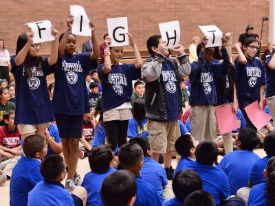 Ana Gutierrez students fight song