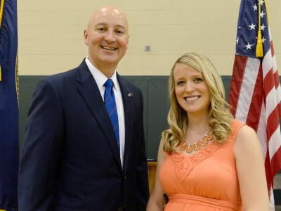 Courtney Matulka with Governor Pete Ricketts