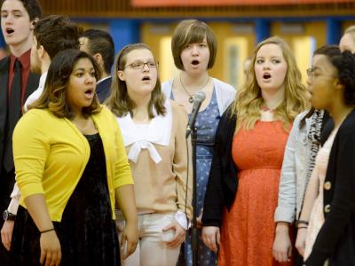 Elizabeth Galinis Hayfield choir