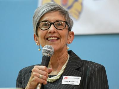 Goshen Superintendent Diane Woodworth