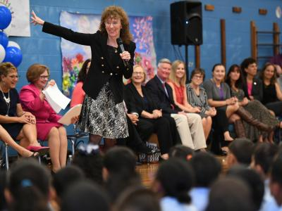 Jane Foley Smalley Academy assembly