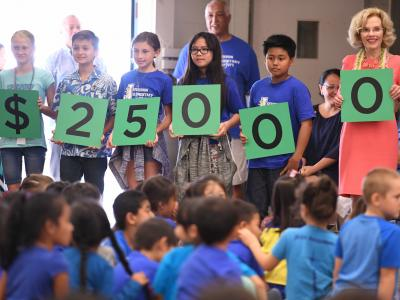 Jefferson Elementary students spell 25000