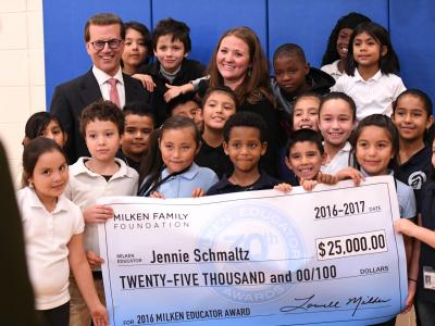 Jennie Schmaltz check students