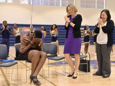Jessica Cunningham shocked by Milken Educator Award announcement
