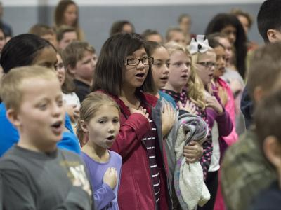Jones Intermediate pledge of allegiance