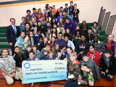 Lafayette 2017 Angela Boxie Lowell Milken students