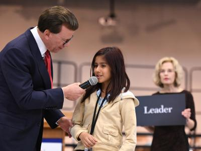 Lowell Milken Rogers Ranch student leader