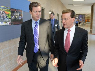 Lowell Milken and Governor Brownback