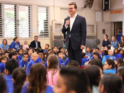Lowell Milken at Jefferson Elementary Honolulu