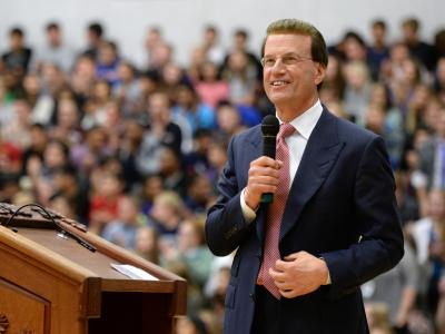 Lowell Milken at assembly