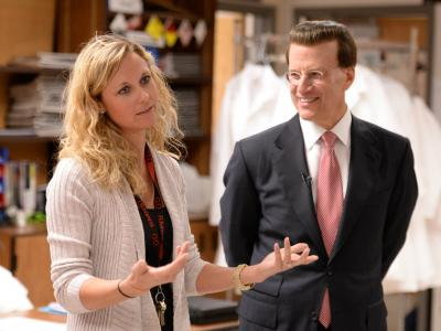 Lowell Milken visits Red Mountain HS classroom