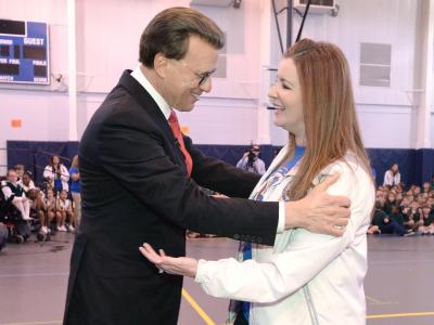 Lowell Milken with Catherine Randall