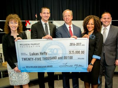 Lukas Hefty check dignitaries