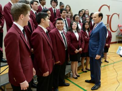 Michael Milken talks to Select Chorale