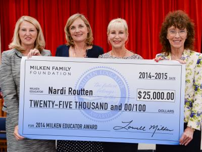 Nardi Routten with Ann Scott Pam Stewart and Jane Foley