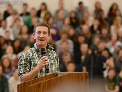 Nick Williams addresses San Marin HS