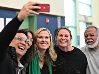 Pasadena 2018 Nichole Anderson colleagues selfie