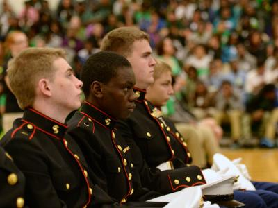 Plaquemine HS ROTC students
