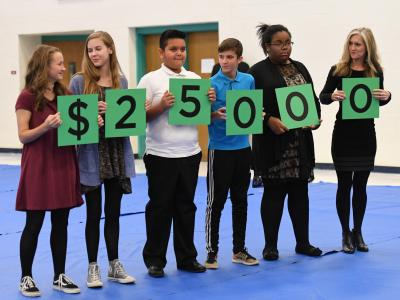 Richmond 2017 Lucille Brown students spell 25000