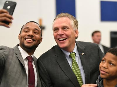 Richmond 2017 Ryan James Terry McAuliffe selfie