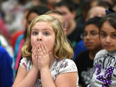 Rim Rock Elementary students wait anxiously