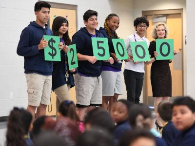 Rogers Ranch students spell 25000