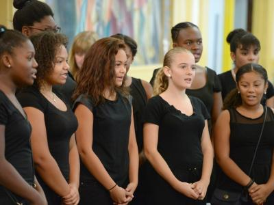 Samuel Slater choir at Kendra Borden Milken Award