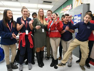 Secaucus 2017 Toni Ann Palmisano students celebrating