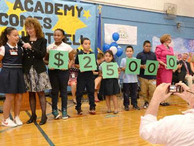 Smalley Academy students spell 25000