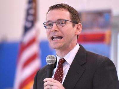 Texas education commissioner Mike Morath at Barrera